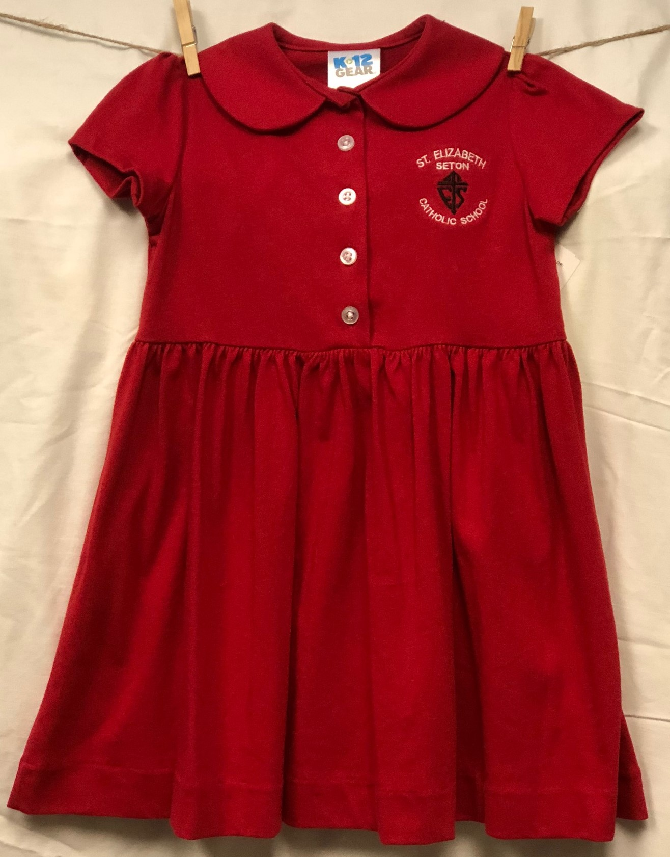 St. Elizabeth Seton Red Polo Dress